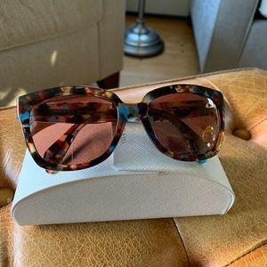 Prada Havana Spotted Blue Sunglasses